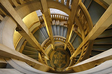 Spiral staircase, new town hall, Hanover, Lower Saxony, Germany, Europe