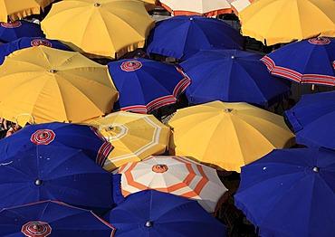 Umbrellas in Vernazza in Cinque Terre, Liguria, Italy, Europe