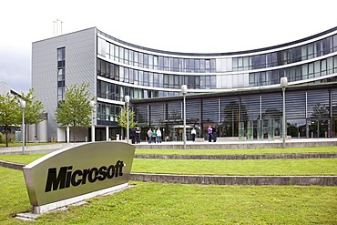 Headquarters of Microsoft company for Germany and Europe, in Unterschleissheim near near Munich, Bavaria, Germany, Europe