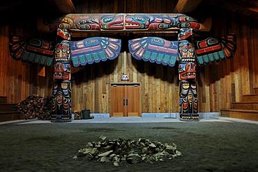 The Smokehouse in Klemtu, religious center of the Xia-Xia Indians, Canada