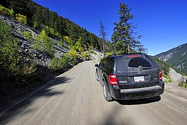 Road from the Heckman Pass to the Bella Coola Valley, Canada