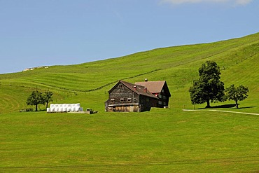 Farm house in the canton of Appenzell, Switzerland, Europe