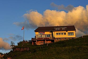 Mountain restaurant on the Ebenalp, Canton Appenzell, Switzerland, Europe