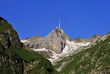 Mt Saentis in the Alpstein Mountains, Canton Appenzell, Switzerland, Europe