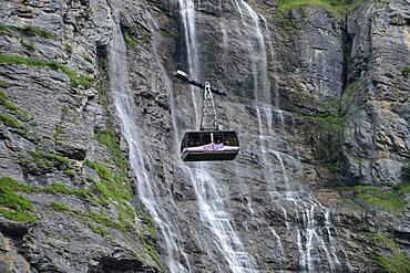 Cable car to Schilthorn Mountain near Interlaken, Canton of Bern, Switzerland, Europe