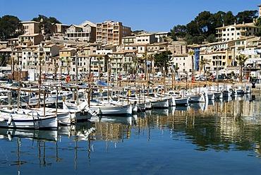 Marina of Port de Soller, Majorca, Balearic Islands, Spain, Europe