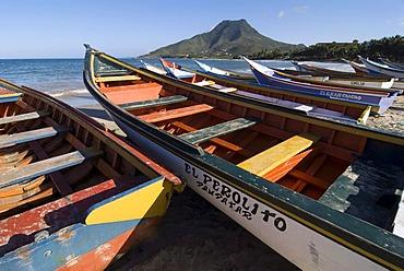 Fishing boats on the island of Isla Margarita, Venezuela, South America