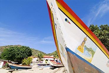 Fishing boats in Manzanillo on the island of Isla Margarita, Venezuela, South America