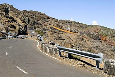 Road to the Observatorio Astrofisico observatory on the Roque de los Muchachos, La Palma, Canary Islands, Spain, Europe
