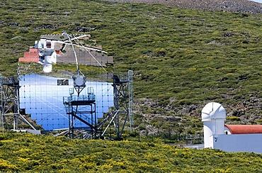 Observatorio Astrofisico, astronomical observatory on the Roque de los Muchachos, La Palma, Canary Islands, Spain, Europe