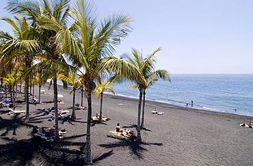 Beach at Puerto Naos, La Palma, Canary Islands, Spain, Europe