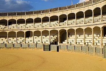 Old bullring in Ronda, Andalusia, Spain, Europe