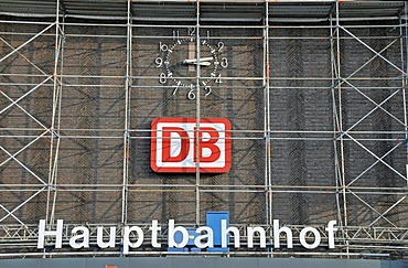 Renovation of the train station in Duisburg, North Rhine-Westphalia, Germany, Europe