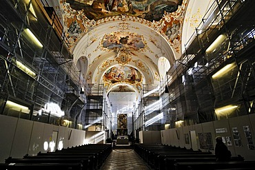 Renovation works, Kloster Schaeftlarn monastery, Bavaria, Germany, Europe
