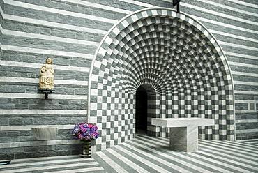 Interior of the church San Giovanni Battista, Mogno, Ticino, Switzerland, Europe
