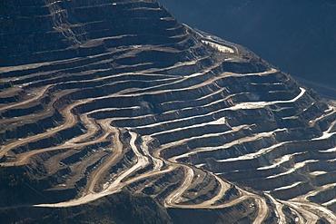 Styrian Erzberg mountain in Eisenerz, Styria, Austria, Europe