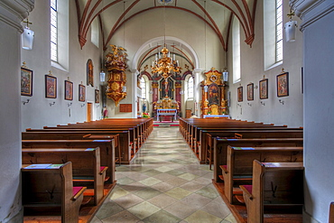 Altar in the Georg church in Horn, Waldviertel Region, Lower Austria, Austria, Europe