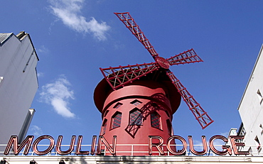 Moulin Rouge in Paris, France, Europe