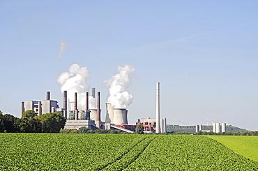 RWE lignite-fired power plant, Niederaussem, Bergheim, Rhineland, North Rhine-Westphalia, Germany, Europe