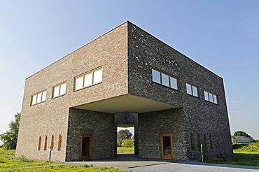 Modern architecture, building, former missile base, art museum, Langen Foundation, architect Tadao Ando, Hombroich, Kreis Neuss district, North Rhine-Westphalia, Germany, Europe