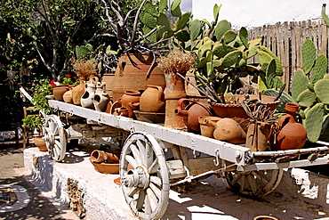 Clay jugs and jars, Lychnostatis Open Air Museum, Museum of the traditional Cretan life, Hersonissos, Crete, Greece, Europe