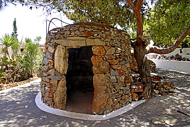 Shepherd's cabin, Lychnostatis Open Air Museum, Museum of the traditional Cretan life, Hersonissos, Crete, Greece, Europe