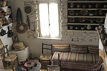 Middle-class home, Lychnostatis Open Air Museum, Museum of the traditional Cretan life, Hersonissos, Crete, Greece, Europe