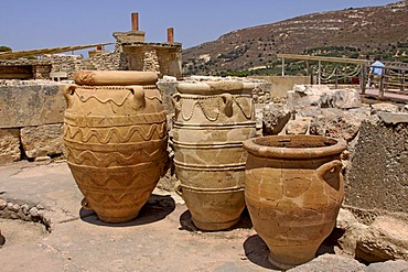 Knossos, archaeological excavation site, Heraklion, Crete, Greece, Europe