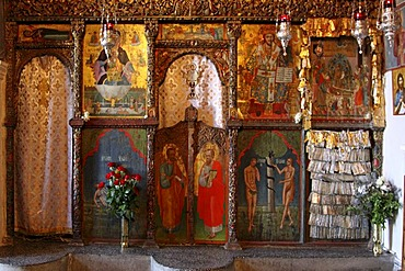 Rock chapel, Moni Faneromenis, monastery, Crete, Greece, Europe