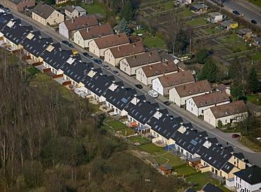 Aerial photo, Tremonia residential estate, townhouses, Dortmund, Ruhr area, North Rhine-Westphalia, Germany, Europe