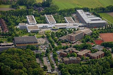 Aerial photo, Fachhochschule technical college Gelsenkirchen Buer, Gelsenkirchen, Ruhrgebiet area, North Rhine-Westphalia, Germany, Europe