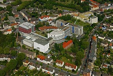 Aerial photo, EVK Evangelisches Krankenhaus Protestant Hospital, Werler Strasse street, Hamm, Ruhrgebiet region, North Rhine-Westphalia, Germany, Europe