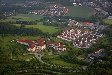 Aerial photo, Rehaklinik Hattingen rehabilitation center, Oberholthausen, Witten, Ruhrgebiet area, North Rhine-Westphalia, Germany, Europe