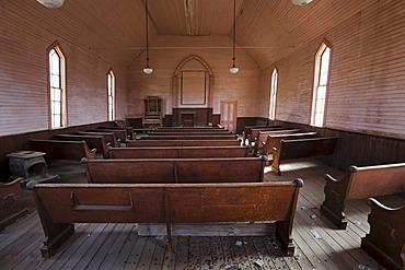 Methodist Church, Bodie State Park, ghost town, mining town, Sierra Nevada Range, Mono County, California, USA
