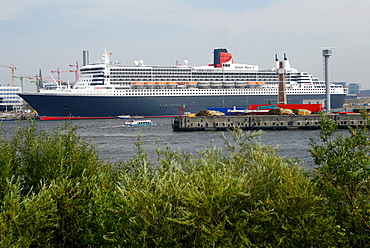 Cruise ship Queen Mary 2 at the Cruise Center in Hamburg, Germany, Europe