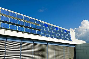 Solar panel facade
