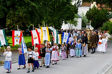 Kiliansfest, Festival of St. Kilian, Bad Heilbrunn, Loisachtal, Toelz region, Upper Bavaria, Germany, Europe