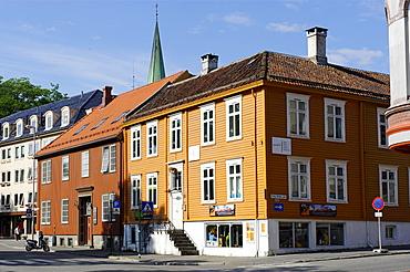 Former trading houses at the Kjopmannsgata, Trondheim, Norway, Scandinavia, Europe