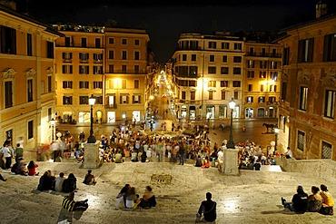 Spanish Steps, Scalinata Trinita dei Monti, Piazza di Spagna, Rome, Italy, Europe