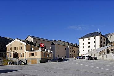 Hospice and convent of the Canons Regular, Great St Bernard Pass, Colle del Gran San Bernardo, Col du Grand Saint-Bernard, 2469 m, Switzerland, Italy, Europe