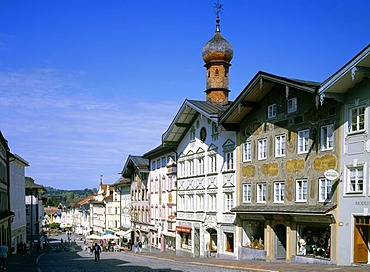 Marktstrasse street, Bad Toelz, Upper Bavaria, Germany, Europe
