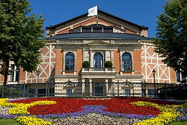 Festspielhaus, Festival Theatre of the Wagner Festival on Green Hill, Bayreuth, Franconian Switzerland, Franconia, Bavaria, Germany, Europe
