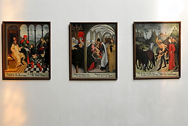 Detail, interior, altar area, Regiswindis Protestant Church, Lauffen, Baden-Wuerttemberg, Germany, Europe