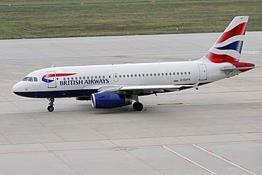 G-EUPX, British Airways Airbus A319-131, Stuttgart Airport, Baden-Wuerttemberg, Germany, Europe