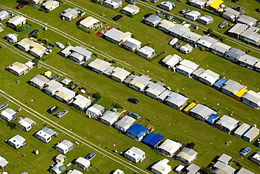 Aerial photo of camping at Keutschacher See, Carinthia, Austria, Europe