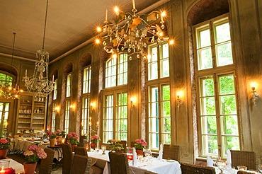 Restaurant, Hotel Villa Sorgenfrei, Radebeul near Dresden, Saxony, Germany, Europe