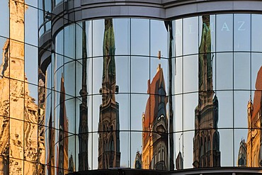 St. Stephen's Square, reflections on Haas House, Vienna, Austria, Europe