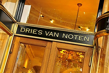 Entrance of the store of fashion designer Dries van Noten, Antwerp, Belgium, Europe