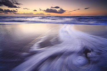 Swirl of water, Weststrand Darss beach, Western Pomerania Lagoon Area National Park, Mecklenburg-Western Pomerania, Germany, Europe