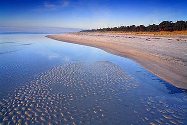 Rippled sand on a beach, Dueodde, Bornholm, Denmark, Europe